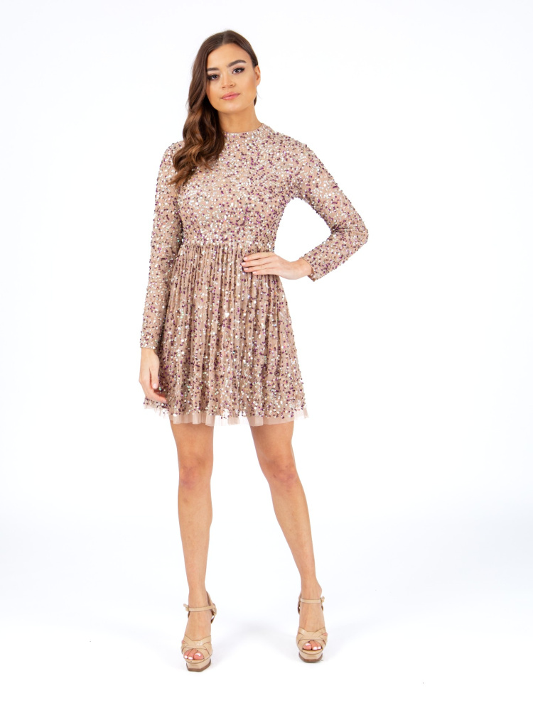 Maya Multi Embellished Skater Dress
